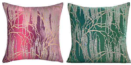 Kevin O'Brien Studio Metallic Willow Velvet Dec Pillow