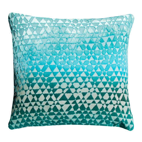 Kevin O'Brien Studio Triangles Velvet Decorative Pillow
