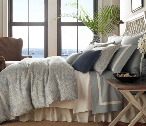 The Vittoria collection from Traditions Linens has effortless style