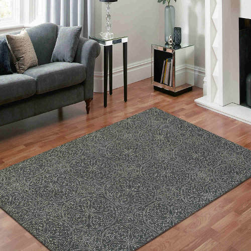 Amer Serendipity rug has a modern design in dove gray colors.