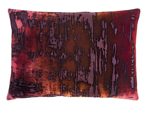 Kevin O'Brien Studio introduces this energetic brush stroke design in velvet decorative pillows.
