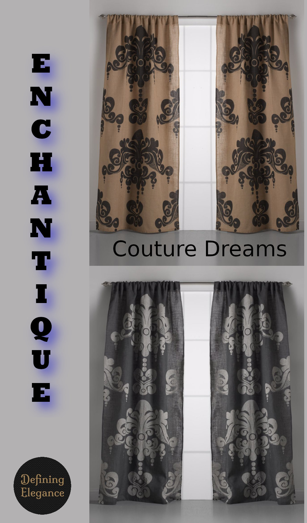 Couture Dreams Enchantique Jute Window Curtain
