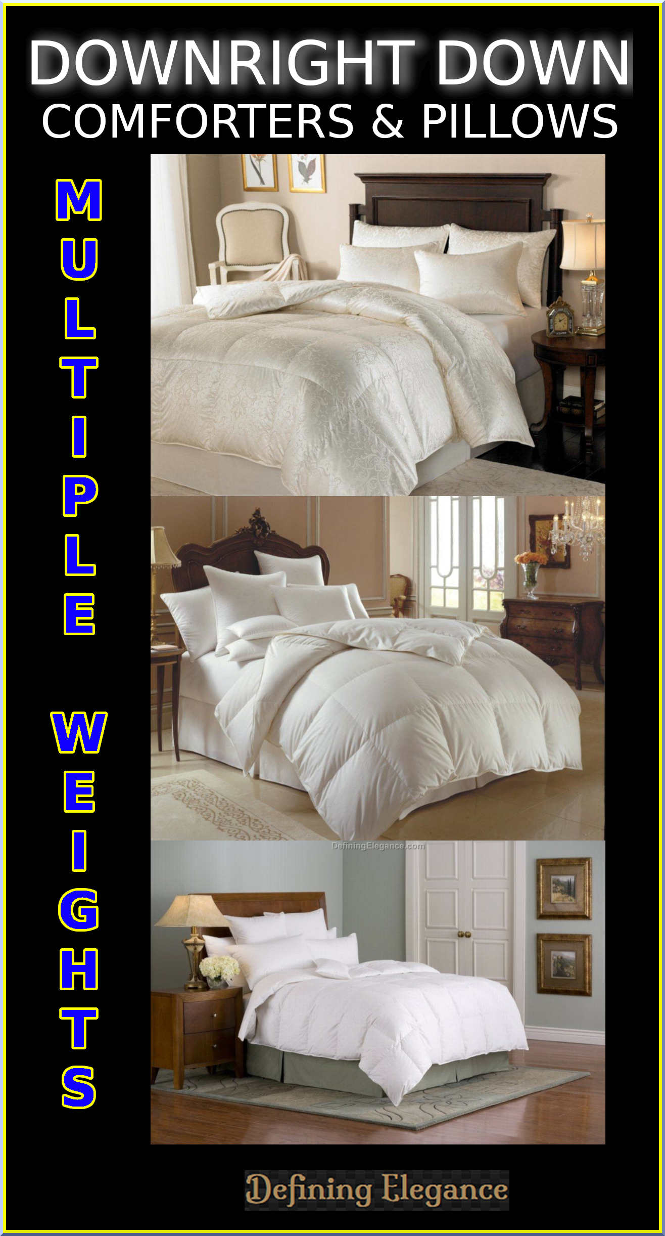 Downright Down Comforters & Pillows