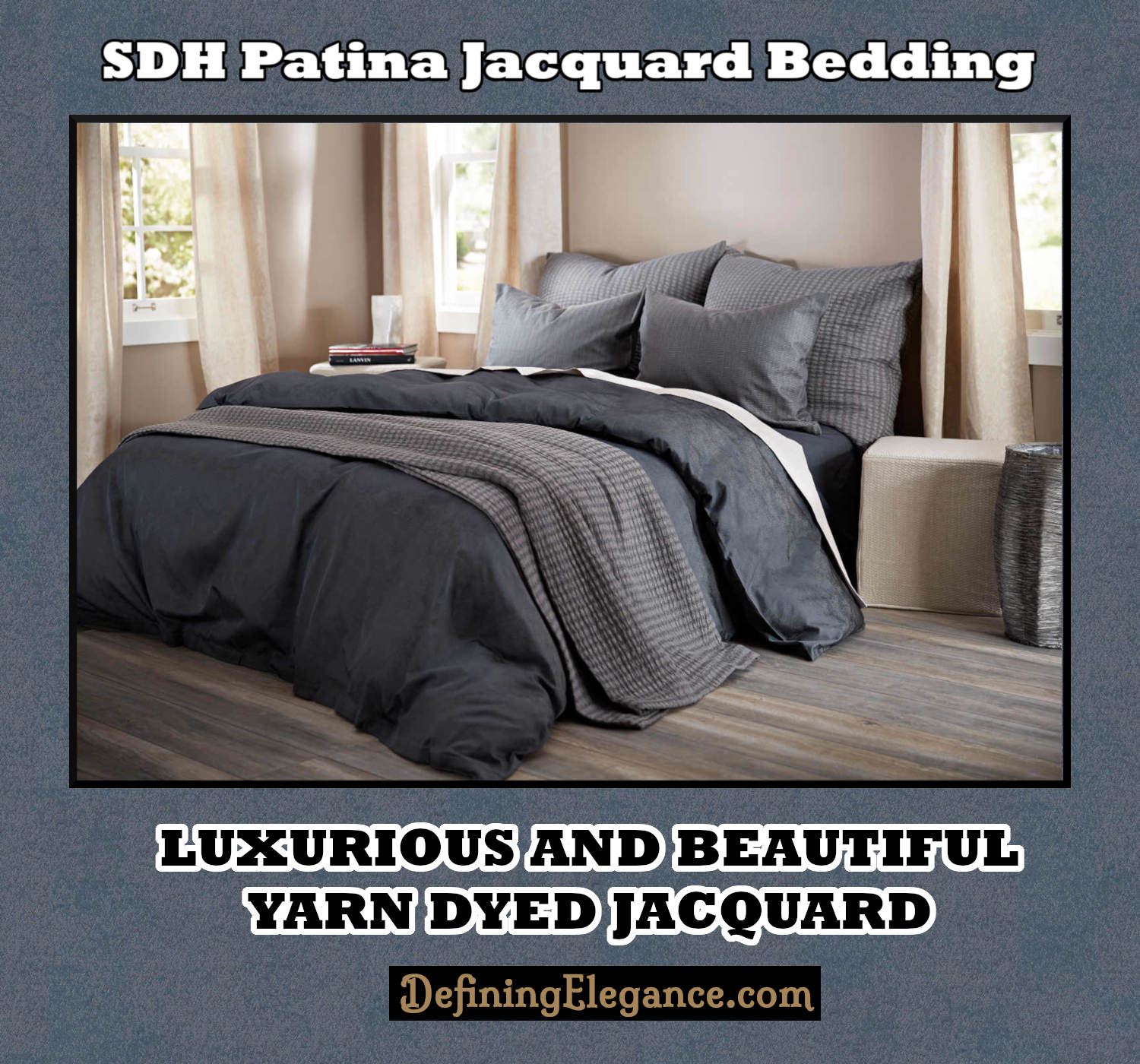 SDH Patina Jacquard Bedding