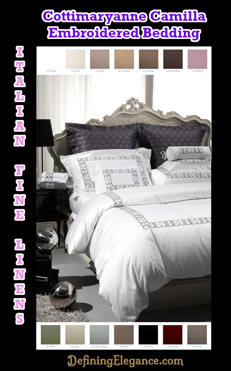 Cottimaryanne Embroidered Bedding Camilla Collection
