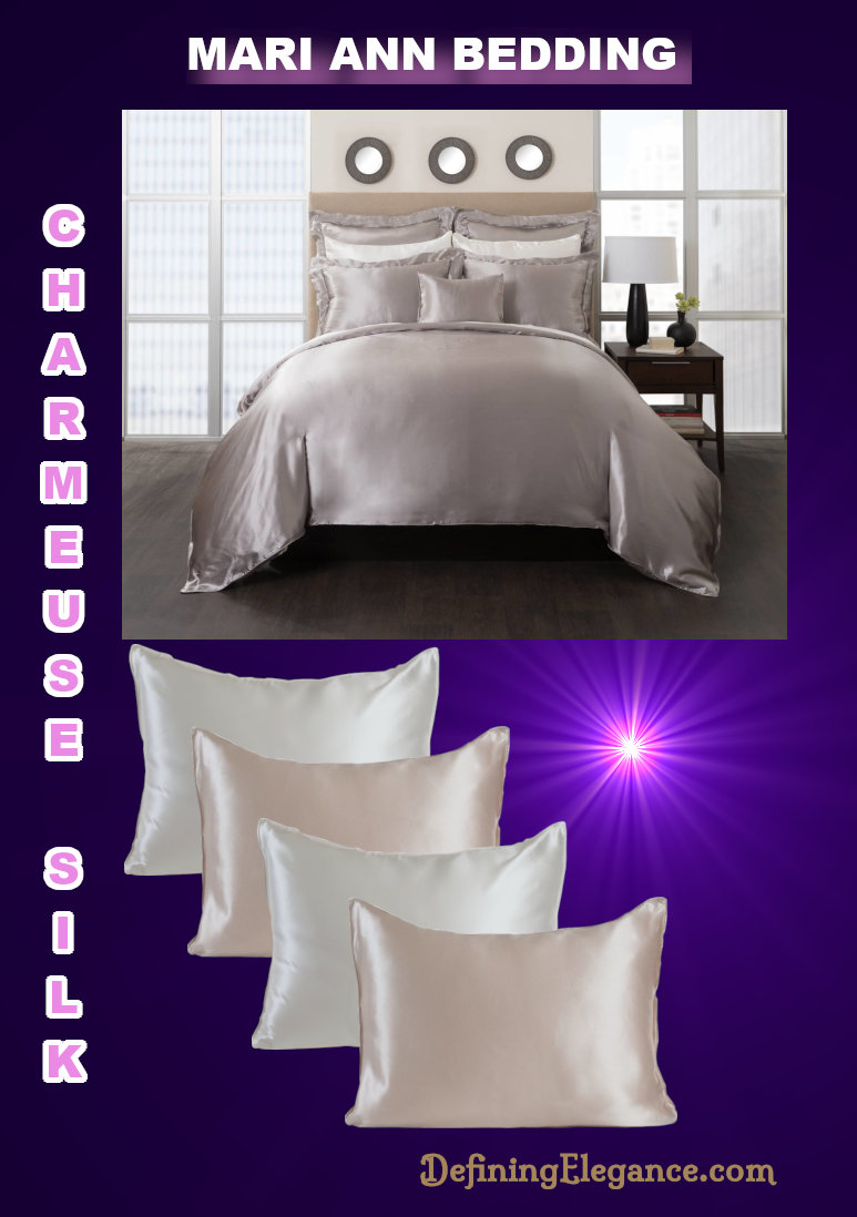 Mari Ann Charmeuse Silk Bedding