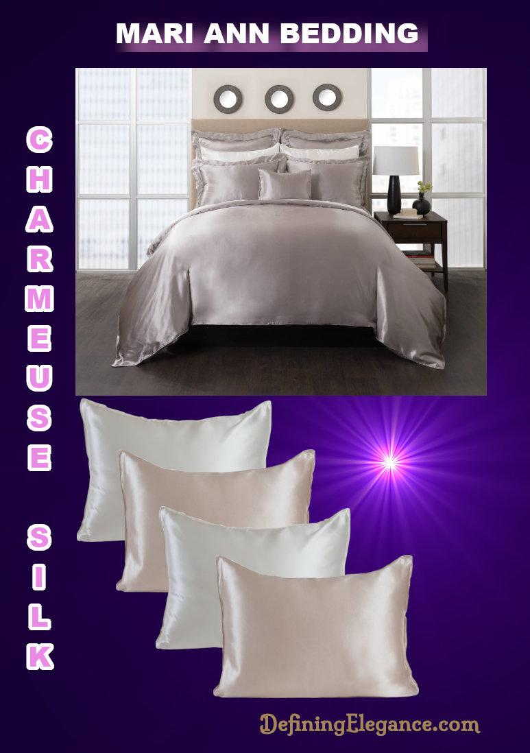 Mari Ann Charmeuse Silk Bedding