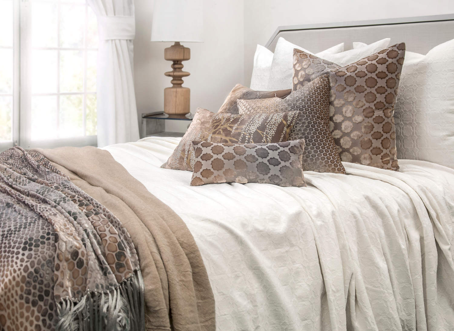 Kevin O'Brien Studion Starflower Coverlet and Euro Sham Collection