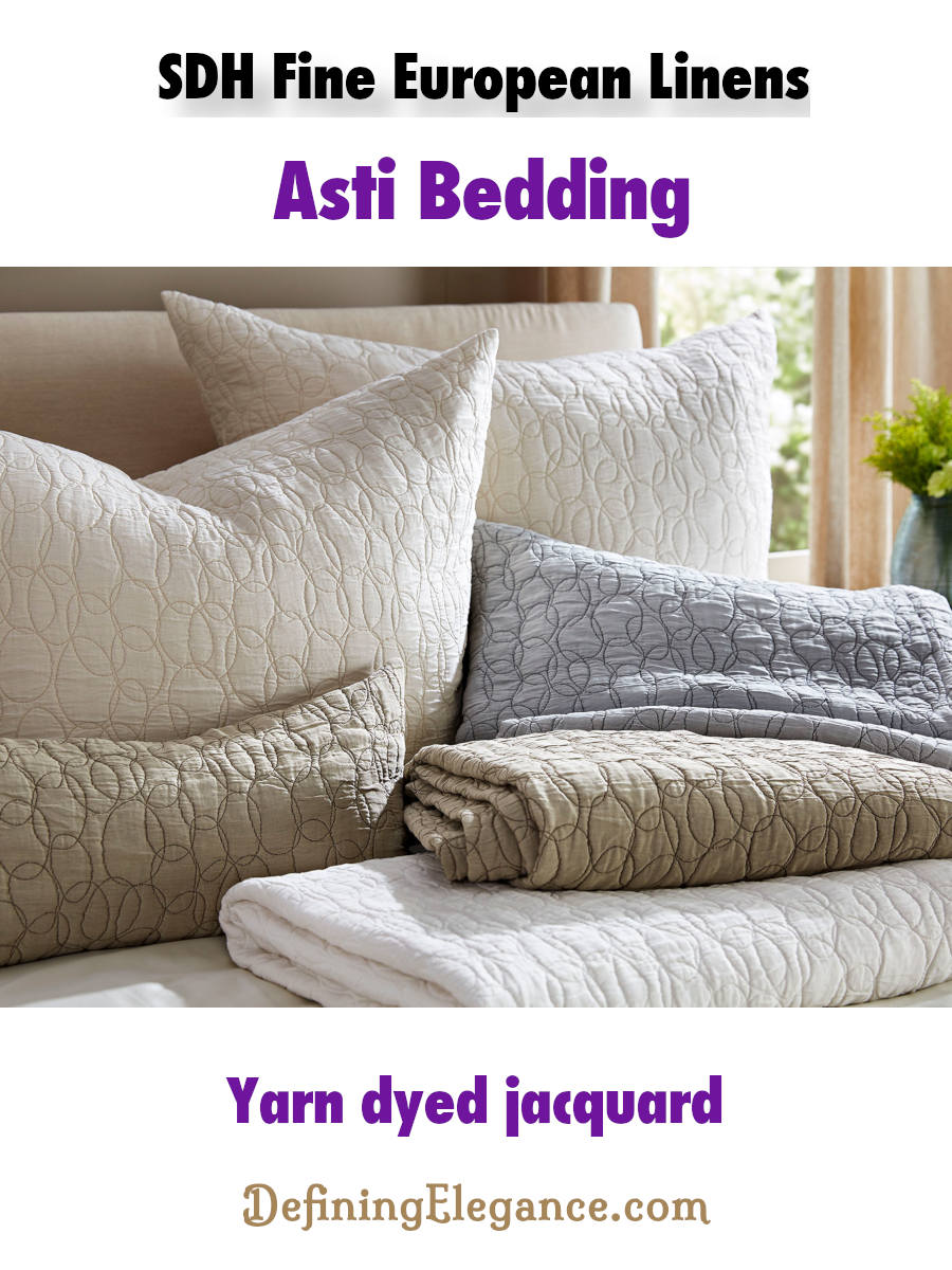 SDH Asti Textured Bed Covers and Shams