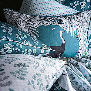 Alexandre Turpault Darwin Cushion with Ostritch