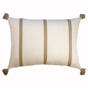 Ann Gish Canvas Stripe Pillow - Art of Home Collection