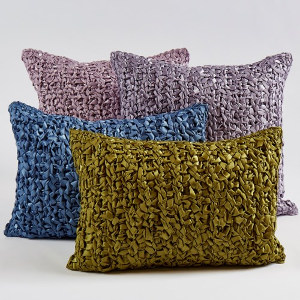 Ann Gish Ribbon Knit Pillow - Art of Home Collection