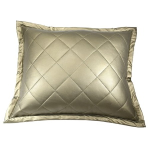 Ann Gish Faux Leather Pillow - Art of Home Collection