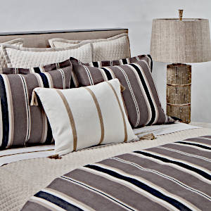 Ann Gish Faux Flax + Deck Stripe Swatch -  Art of Home Collection