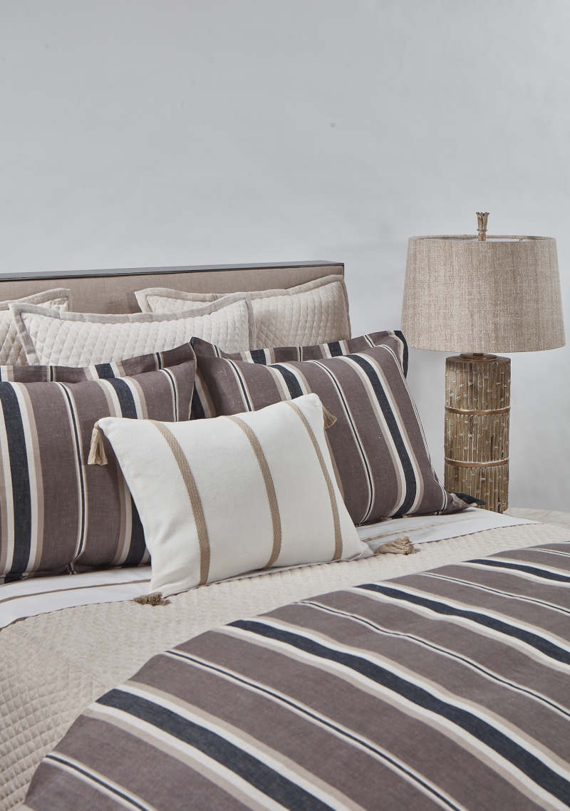 Ann Gish Pumice Faux Flax + Deck Stripe Set -  Art of Home Collection