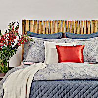 Ann Gish Faux Linen + Roses Swatch - Art of Home Collection