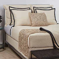 Ann Gish Basketweave & Leather Bedding Collection