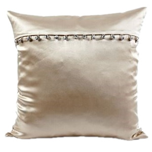 Ann Gish Charmeuse Pillow with Crystal Buttons
