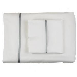 Cotton Sheet Set With Silk Bands