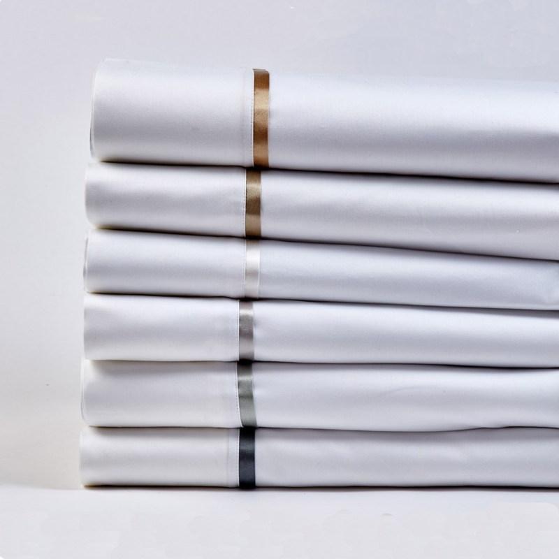 Ann Gish Cotton Sheet Set with Charmeuse Trim