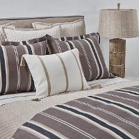 Ann Gish Deck Stripe & Faux Flax Bedding Set - Art of Home
