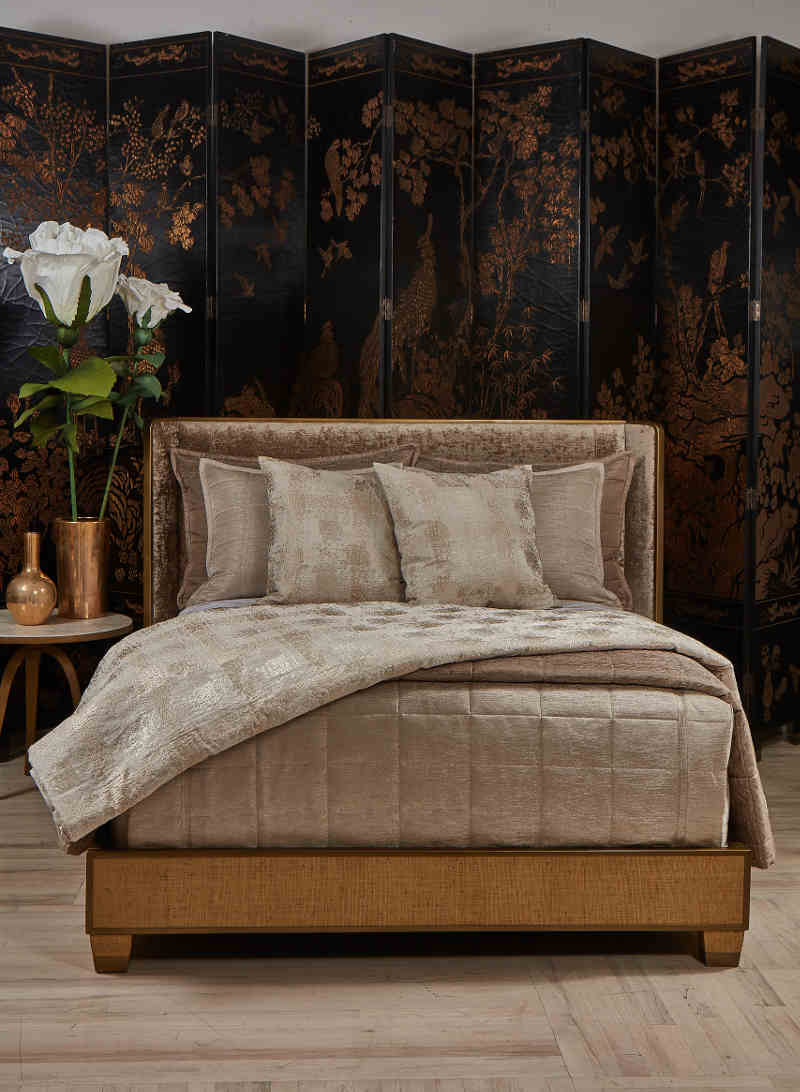 Ann Gish Markham Throw with Stria Coverlet Collection