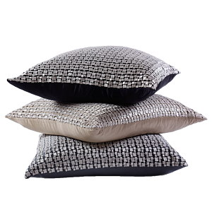 Ann Gish Metallic Mosaic Platinum Pillow