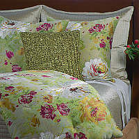 Ann Gish Peony & Ribbon Knit Bedding Collection