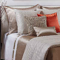 Ann Gish Trellis & Quilted Channel Silk Bedding Collection