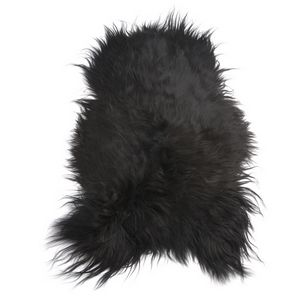 Fibre by Auskin Natural Blacky Brown Artic Sheepskin Pelt