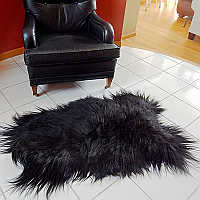 Stunning Arctic sheepskin pelts are the ultimate floor covering.