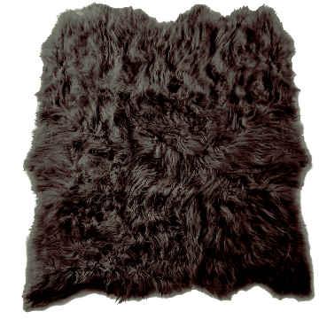 Auskin Artic Icelandic Sheepskin Six Pelt Rug in Black/Brown