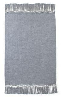 Fibre by Auskin Baby Alpaca Cool Throw - Blue Grey