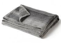 Folded Auskin Baby Alpaca Crocheted Edge Throw - Greys