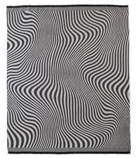 Fibre by Auskin Baby Alpaca Waves Throw - Grey