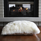 Auskin Basics Lambskin Floor Cushions & Pillows