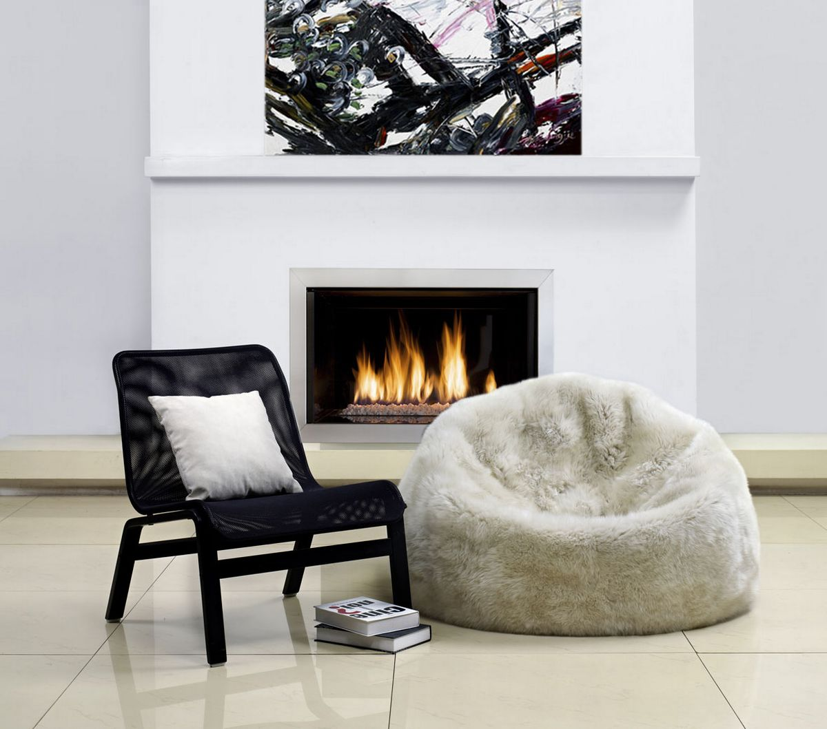 Fibre by Auskin Beanbag - Natures Fleece Ultimate Seating