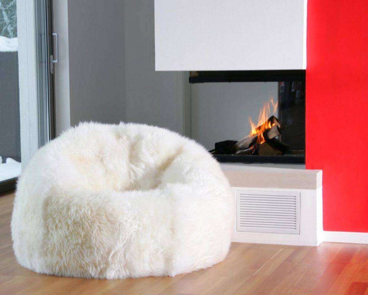 Auskin Lambskin Beanbag in Ivory Ivory - Fibre By Auskin Beanbag - Natures Fleece Lambskin Ultimate Seating