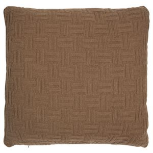 Fibre by Auskin Camel Hair Cushion -  Camel - Basketweave