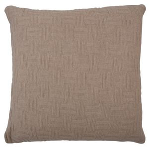Fibre by Auskin Camel Hair Cushion -  Ecru - Basketweave