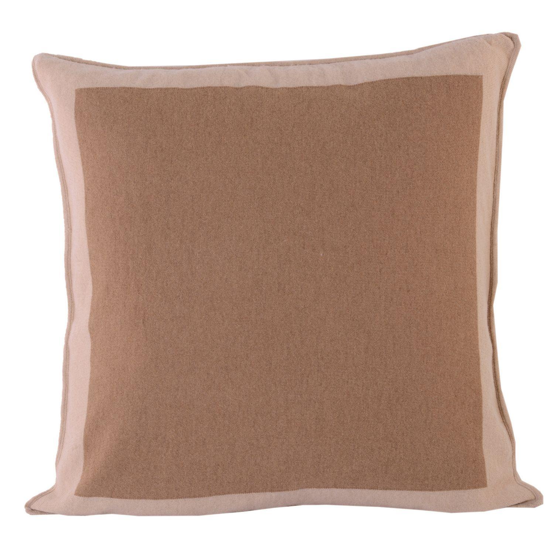 Fibre by Auskin Camel Hair Bordered Panel Pillow