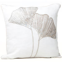 Unique laser cut pillows will stand out and enhance decor.