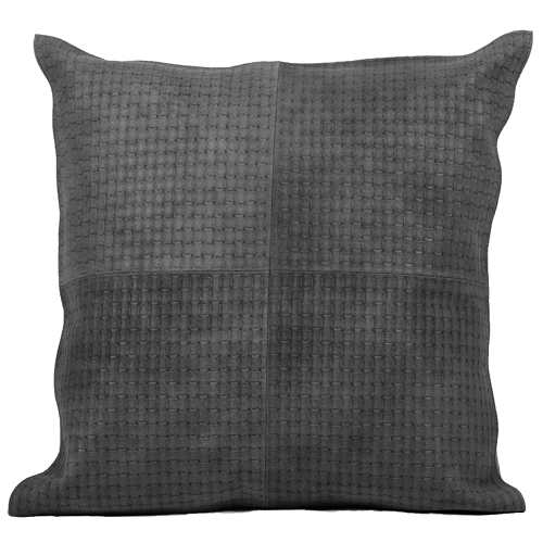 Fibre by Auskin Black Basketweave Cowhide Decorative Pillows