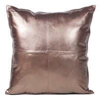 Cowhide pillow displays a beautiful rich bronze sheen.