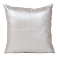 Cowhide pillow displays a beautiful rich Dull Silver sheen.