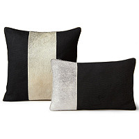 Auskin's Cowhide pillow collection includes many different styles and color.