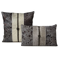Decorative cowhide pillow by Fibre by Auskin shows luxury yet earthy appeal.