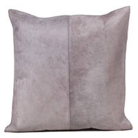 Auskin's Cowhide pillow displays a beautiful stich in the middle of the pillow that will help give decor a modern touch.