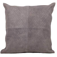 Pillow is designed with a woven like pressed texture to add dimension to any room.
