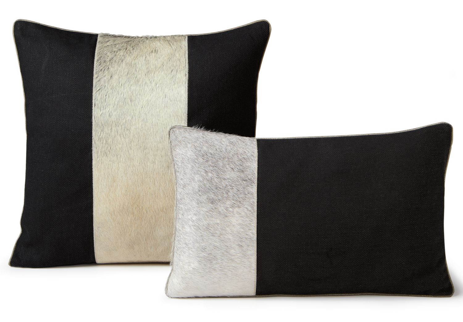 Fibre by Auskin Cowhide Dusk and Midnight Decorative Pillows
